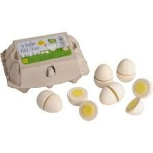 Jajka białe do krojenia w pudełku 6 szt, Erzi