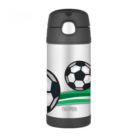 Bidon termiczny z ustnikiem słomką FUNtrainer piłka nożna 0,35l, Thermos