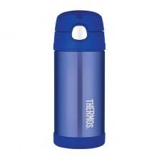 Bidon termiczny dla dzieci  z ustnikiem słomką FUNtrainer niebieski 0,35l, Thermos