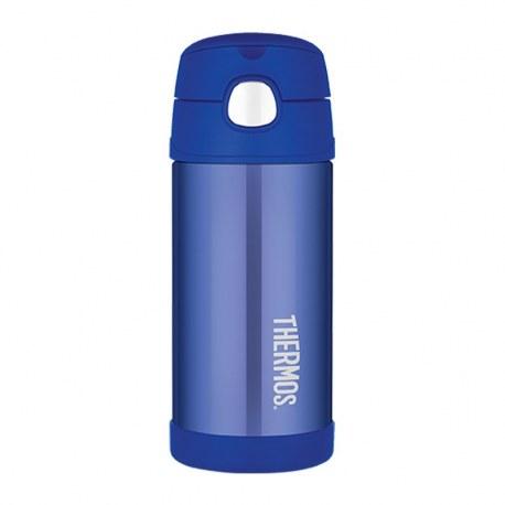 Bidon termiczny z ustnikiem słomką FUNtrainer niebieski 0,35l, Thermos