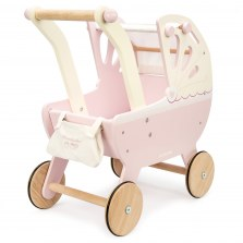 Drewniany wózek dla lalek pudrowy róż, Le Toy Van