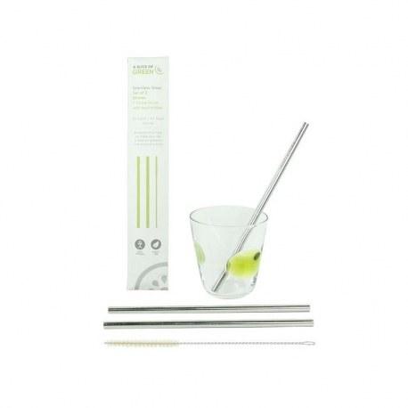 Metalowe słomki do napojów - długie, A Slice Of Green