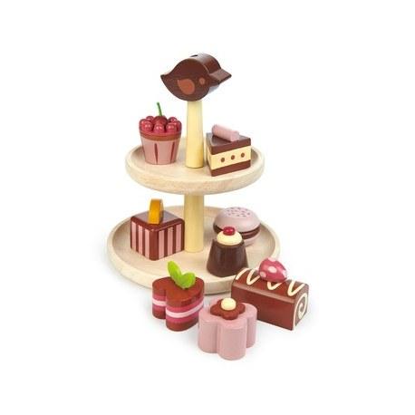 Drewniana patera z czekoaldkami, Tender Leaf Toys