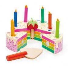 Drewniany tort urodzinowy, Tender Leaf Toys