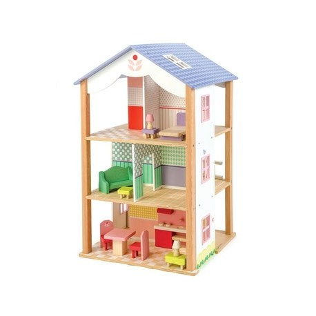 Drewniany domek dla lalek, Tender Leaf Toys