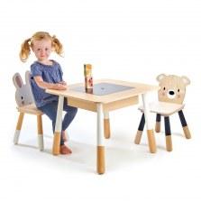 Drewniany stoliczek z krzesełkami, Tender Leaf Toys