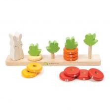 Drewniane liczydło - liczymy marchewki, Tender Leaf Toys