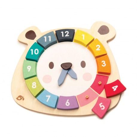 Drewniany zegar edukacyjny, Tender Leaf Toys