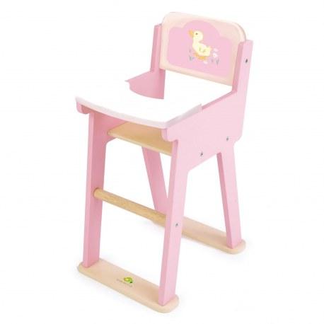 Drewniane krzesełko dla lalek, Tender Leaf Toys