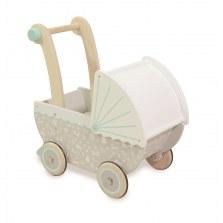 Drewniany wózek dla lalek szary las, Indigo Jamm