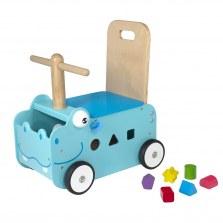 Drewniany Jeździk pchacz Hipopotam, I'm Toy