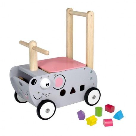 Drewniany Jeździk pchacz Myszka, I'm Toy