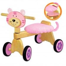Drewniany jeździk różowy Kotek, I'm TOY