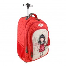 Plecak szkolny na kółkach - Gorjuss Fiesta Time to Fly, Santoro