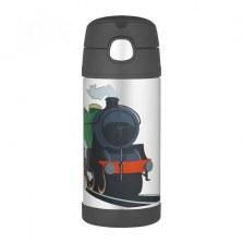 Bidon termiczny dla dzieci z ustnikiem słomką FUNtrainer pociąg 0,35l, Thermos
