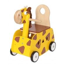 Drewniany Jeździk pchacz Żyrafa, I'm Toy