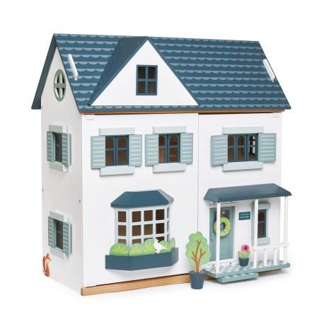Drewniany domek dla lalek z mebelkami Dovetail, Tender Leaf Toys