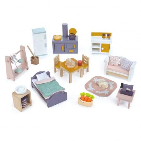 Drewniane mebelki do domku dla lalek, Tender Leaf Toys