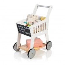 Drewniany wózek na zakupy biały, MUSTERKIND®